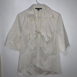 Lafayette 148  White Button Down with tie